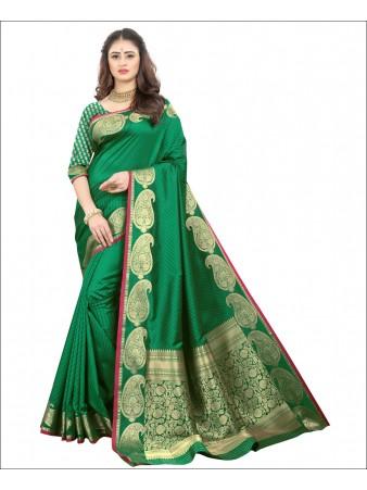RL- Green color Pure Silk saree
