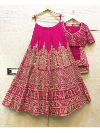 RE - Party wear zari embroidered Pink Lehenga Choli