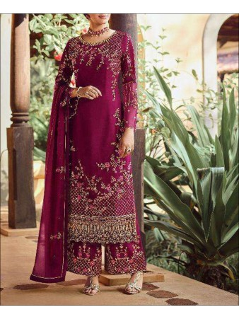 RF - Pink color faux Georgette Palazzo Suit.