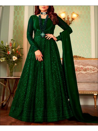 RF - green color Georgette Gown Dress.
