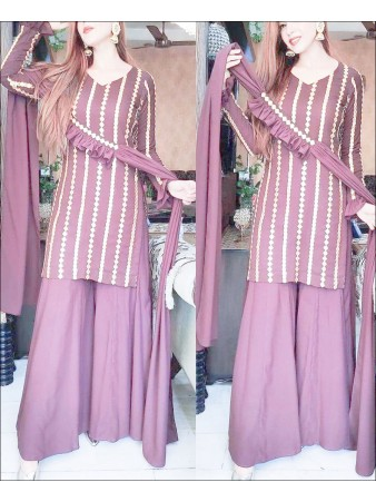 RE - Pink Colored Semi-Stitched Salwar Suit